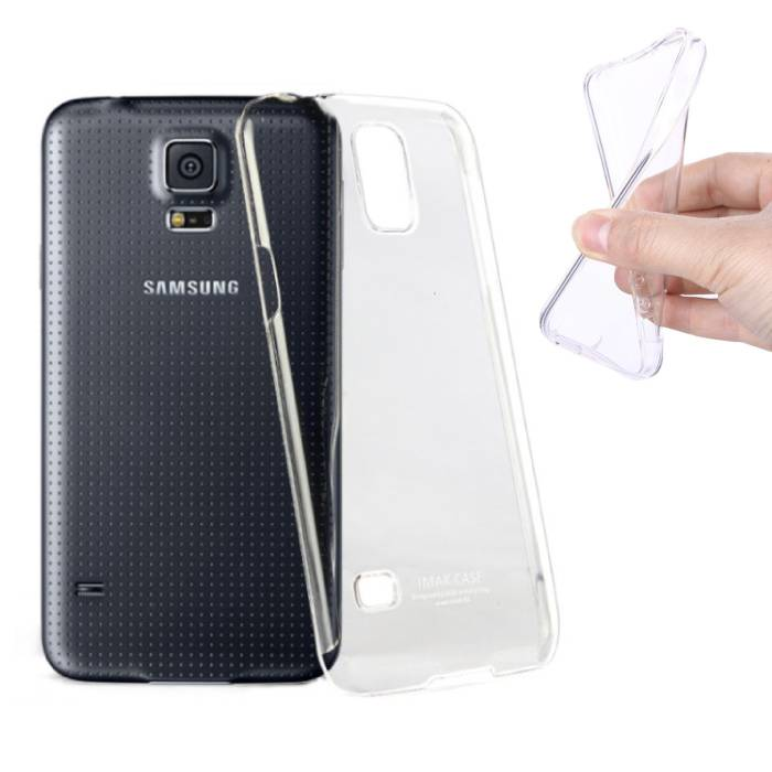 2-Pack Transparant Clear Case Cover Silicone TPU Hoesje Samsung Galaxy S5