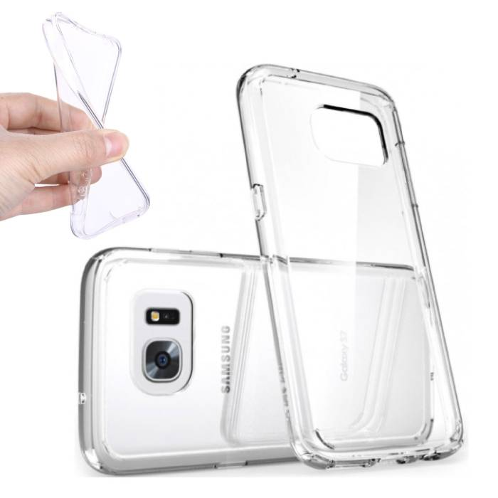 2-Pack Transparant Clear Case Cover Silicone TPU Hoesje Samsung Galaxy S6