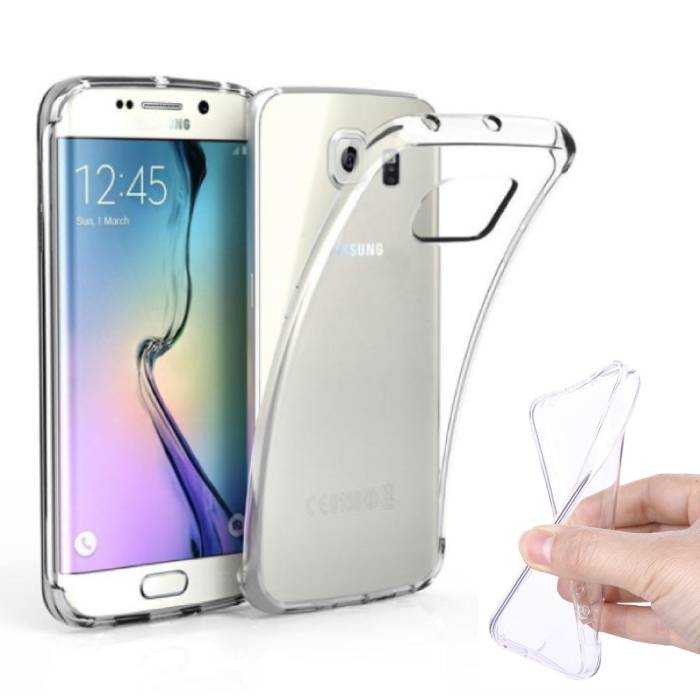 2-Pack Transparent Clear Silicone Case Cover TPU Case Samsung Galaxy S6 Edge