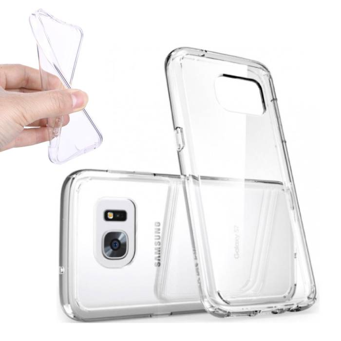 2-Pack Transparant Clear Case Cover Silicone TPU Hoesje Samsung Galaxy S7