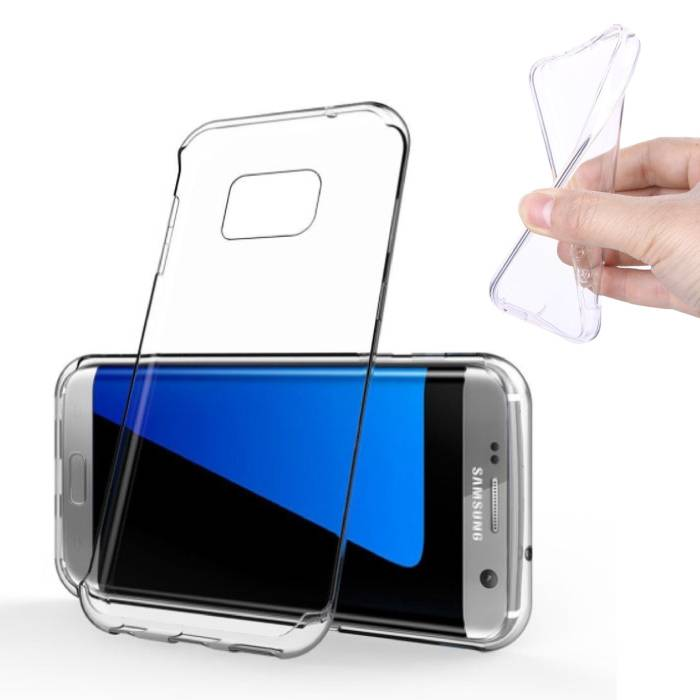 2-Pack Transparant Clear Case Cover Silicone TPU Hoesje Samsung Galaxy S7 Edge