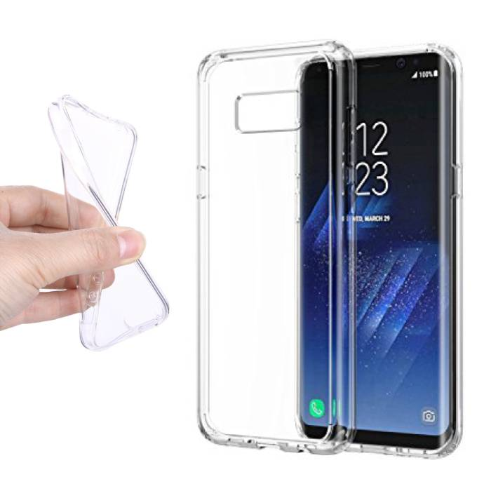 2-Pack Transparent Clear Silicone Case Cover TPU Case Samsung Galaxy S8 Plus