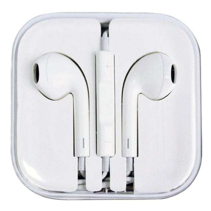 2-Pack iPhone/iPad/iPod Earphones Ears écouteur White - Clear Sound