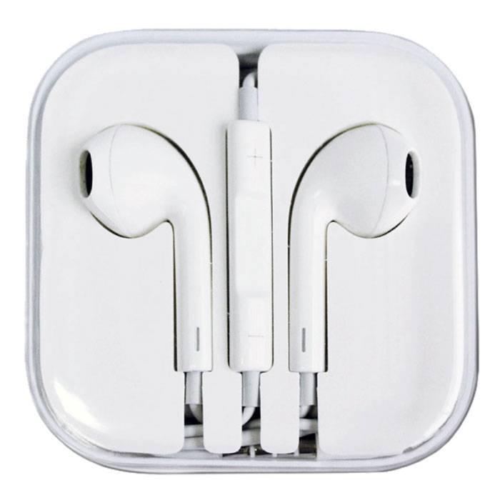 2-Pack iPhone/iPad/iPod In-ear Earphones Oortjes Ecouteur Wit - Helder Geluid