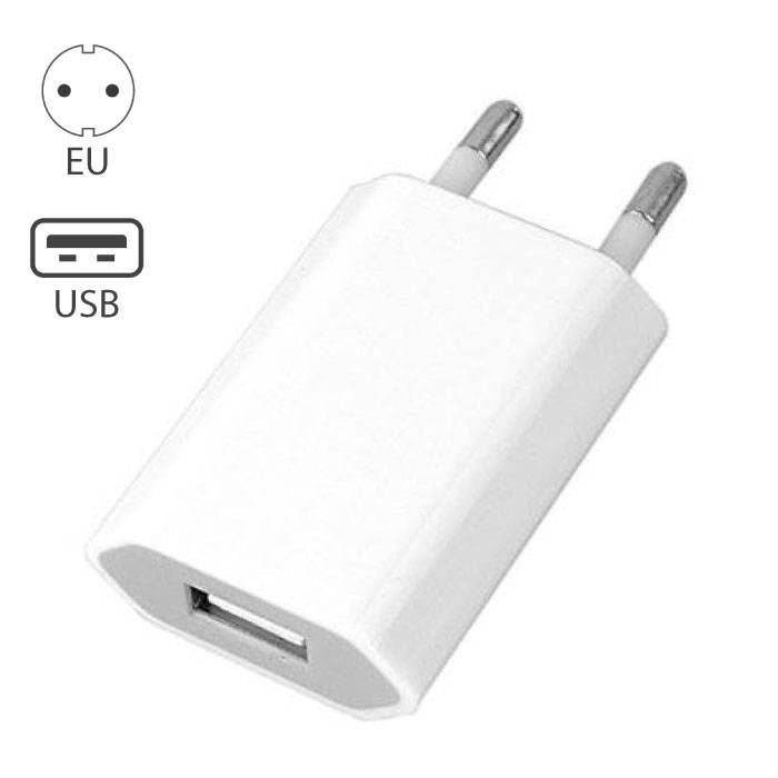 2-Pack iPhone/iPad/iPod/Android Stekker Lader Oplader USB Wit