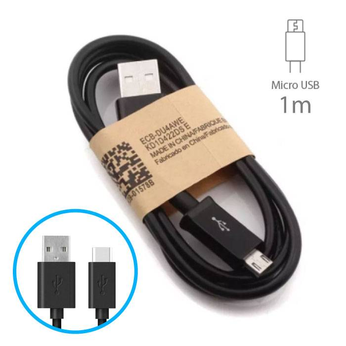 2-Pack USB 2.0 - Micro-USB Oplaadkabel Oplader Data Kabel Data Android 1 Meter Zwart