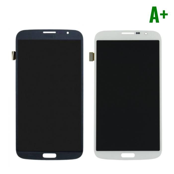Samsung Galaxy Mega 6.3 i9200/i9205 Scherm (Touchscreen + LCD + Onderdelen) A+ Kwaliteit - Zwart/Wit