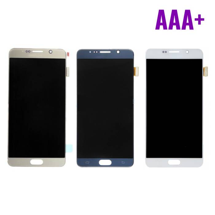 Samsung Galaxy Note N9200 5/N920A/N920T/N920V/N920P screen (Touchscreen + LCD + Onderdelen) AAA+ Quality - White/Blue/Gold