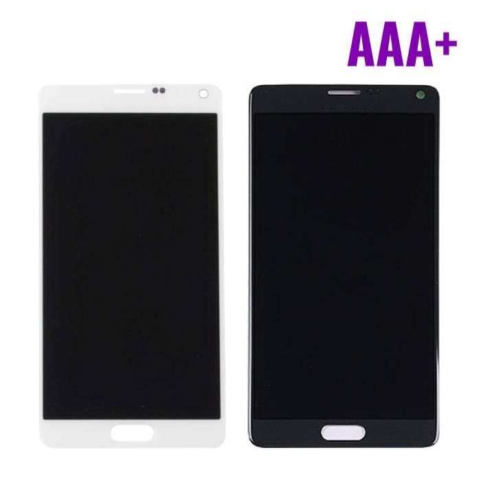 Samsung Galaxy Note 4 N910A/N910F screen (Touchscreen + LCD + Onderdelen) AAA+ Quality - Black/White