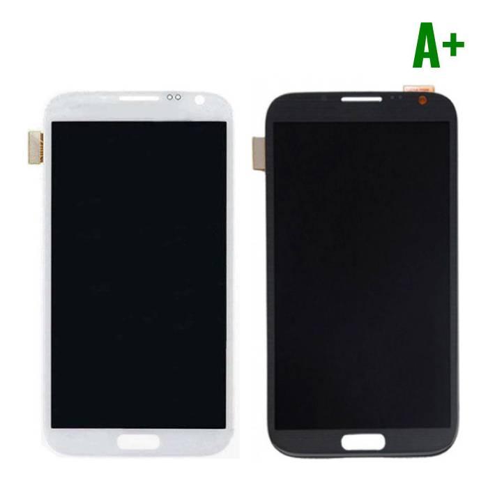 Samsung Galaxy Note 2 N7100 Scherm (Touchscreen + LCD + Onderdelen) A+ Kwaliteit - Zwart/Wit