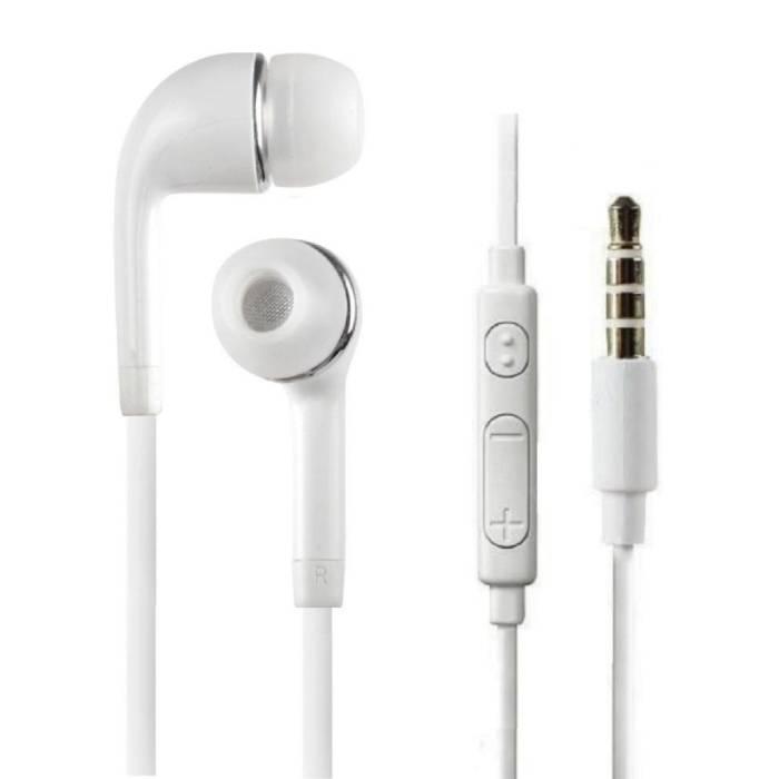 Oreilles écouteurs pour Samsung Galaxy Blanc - clair écouteur du son