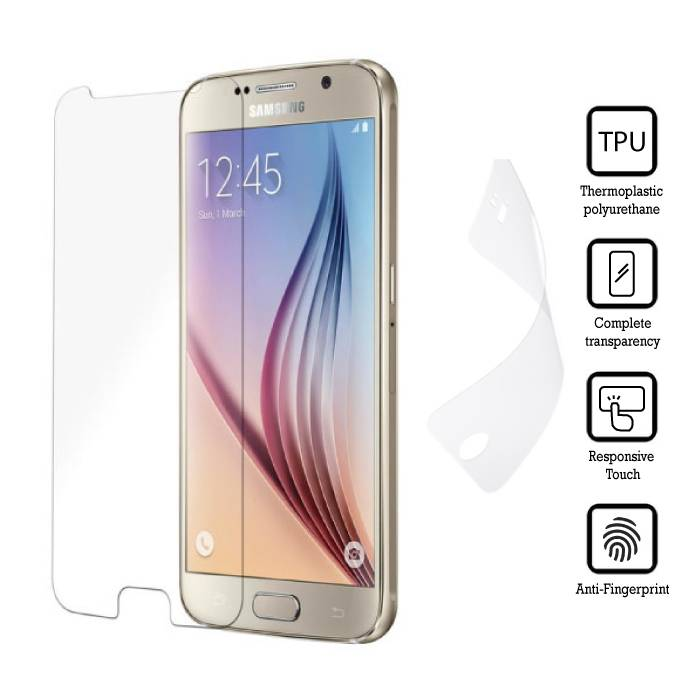 Screen Protector Samsung Galaxy S6 Edge Soft TPU Foil Folie PET Film