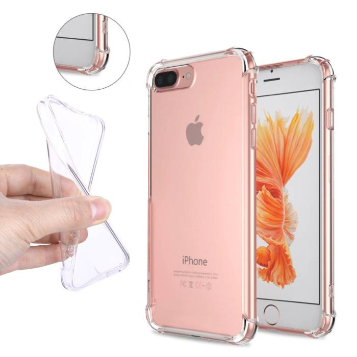 Transparent Clear Bumper Case Cover Silicone TPU Case Anti-Shock iPhone 8