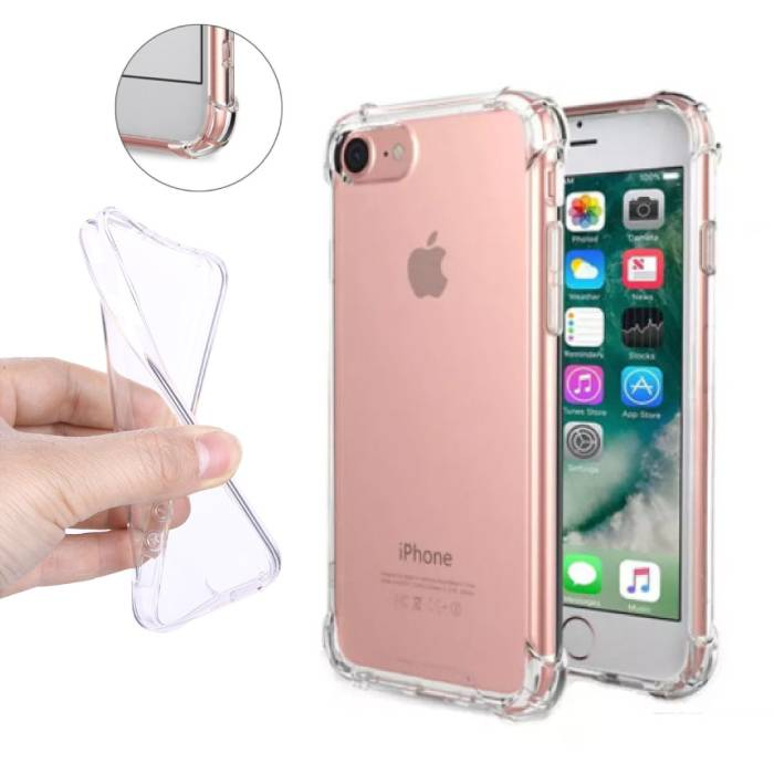 Transparant Clear Bumper Case Cover Silicone TPU Hoesje Anti-Shock iPhone 7 Plus