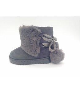 "Shoes ""pompom"" grey"