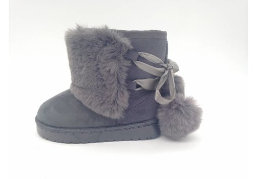 "Shoes ""pompom"" grey"