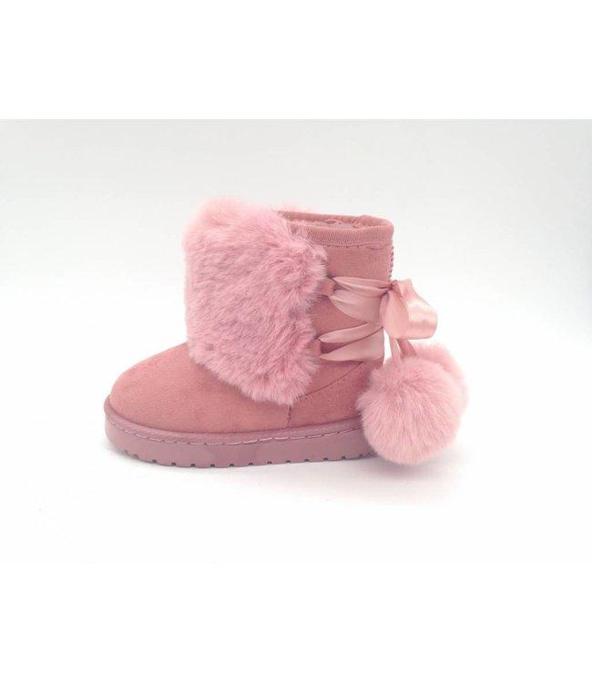 """Laars """"Pompom"""" roze"""