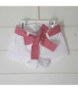 Balloon Chic Short wit/vichy red