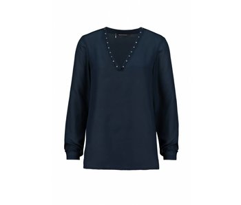 Expresso Blouse donkerblauw Karla