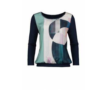 Expresso Top donkerblauw Nydia