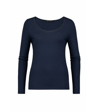 Expresso T-shirt basic ls blauw Xada
