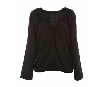10Days Sporty blouse zwart 20-401-7104