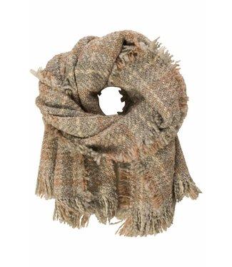10Days Check scarf grijs 20-904-7103