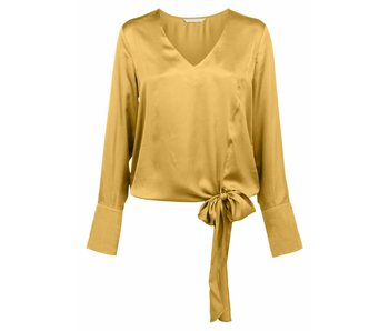 Yaya V-NECK TOP WITH FLARED CUFFS MUSTARD 012506-724