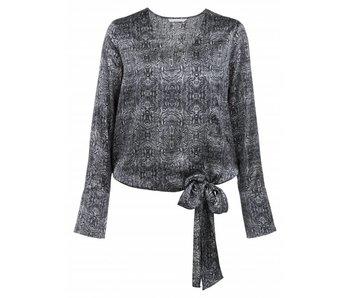 Yaya PAISLEY PRINTED V-NECK TOP BLACK DESSIN 012513-725