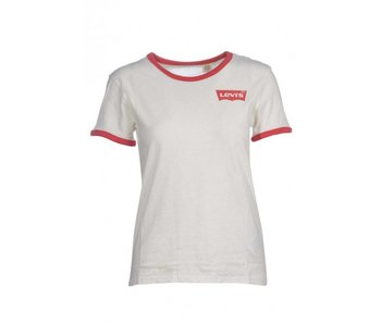 Levi's Perfect ringer tee off white 35793-0000