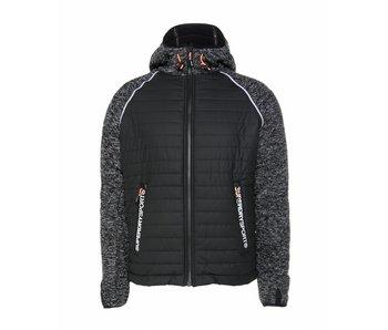 Superdry Sport blizzard zipphood zwart m50111lp