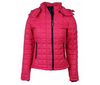 Superdry Hooded jacket roze g50009npf4