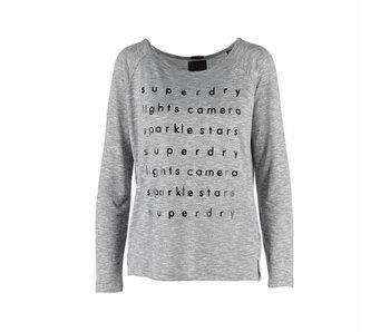Superdry Graphic knit top grijs g60025xp