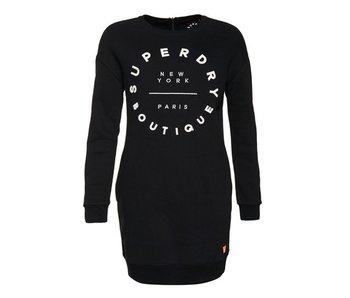 Superdry Sweat dress zwart g80008xpds