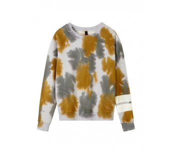 10Days Sweater tie dye grijs 20-813-8101