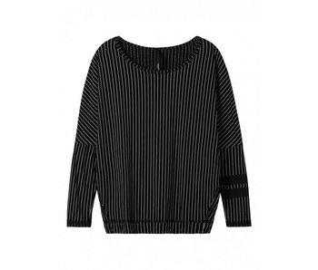 10Days Longsleeve pinstripe zwart 20-776-8101