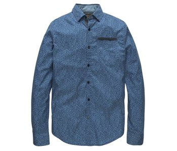 PME Legend Long Sleeve Shirt Poplin Print Dani: Vallarta Blue PSI178201