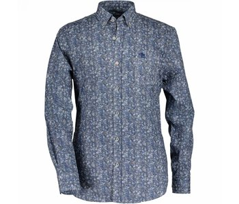 State of Art Shirt lm blauw 17060-8457