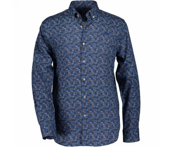 State of Art Shirt lm blauw 17069-5357