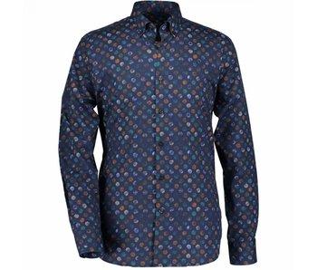 State of Art Shirt blauw 17068-3657
