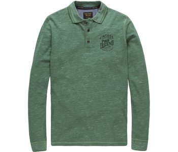 PME Legend Long sleeve polo Cotton Space Pique Moss Green PPS178871