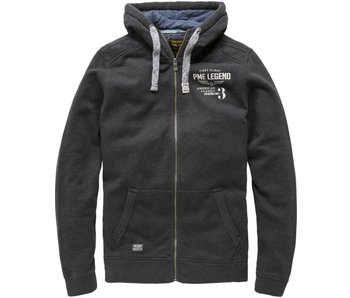 PME Legend HOODED FULL ZIP JACKET PM BRUSHED F: Antracite Melee PSW175402