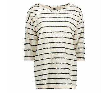 10Days Longsleeve wool stripe wit 20-775-8101