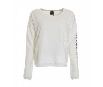 Penn & Ink Sweater print wit s18f181