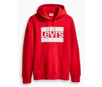 Levi's Graphic pullover hoodie rood 19491-0026