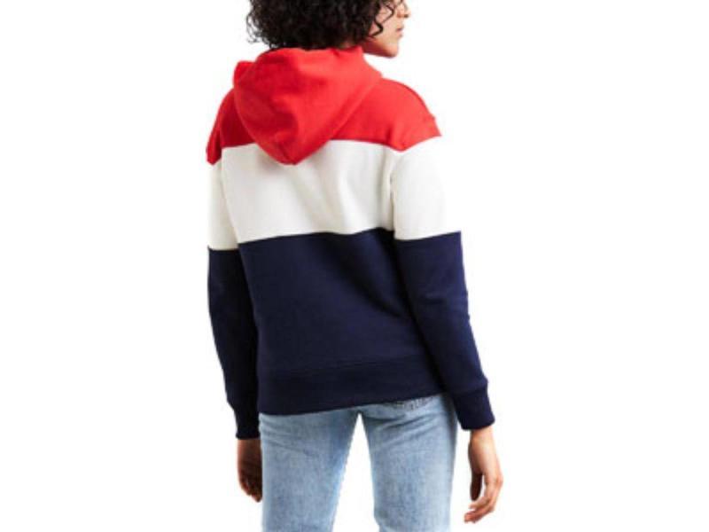 Levi's Colorblock sport hoodie blauw 52441-0000