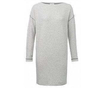 Yaya SWEATER DRESS LUREX STITCHES LIGHT GREY MELANGE 081699-811