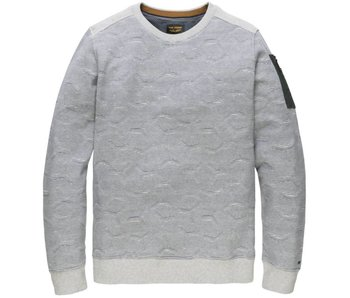 PME Legend R-neck Terry Light Sweat Grey Melee PSW181409