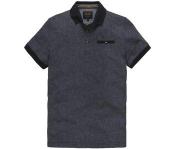 PME Legend Short sleeve polo Single jersey Dark Navy PPSS181850