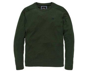 Vanguard R-neck Merino wool mercerized Darker Green VKW178100